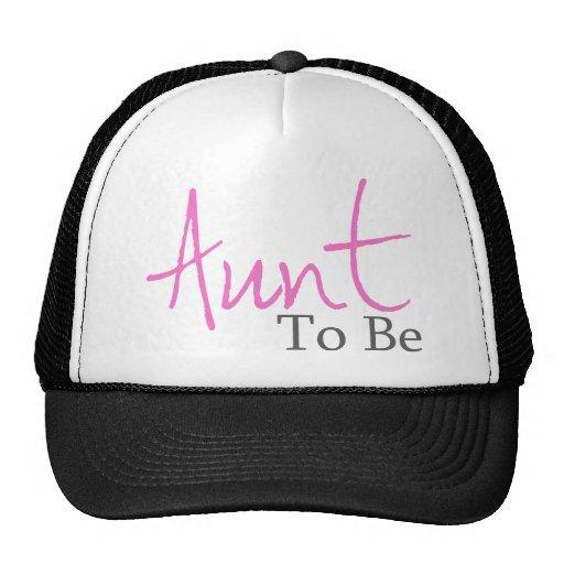 Aunt To Be (Pink Script) Cap