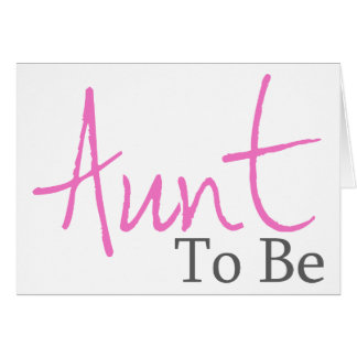 Aunt To Be Pink Script Cards