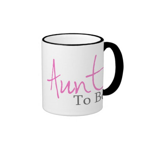 Aunt To Be (Pink Script) Mugs