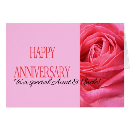 Aunt and uncle wedding anniversary cards photo card