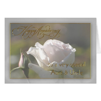 Aunt & Uncle Wedding Anniversary Card