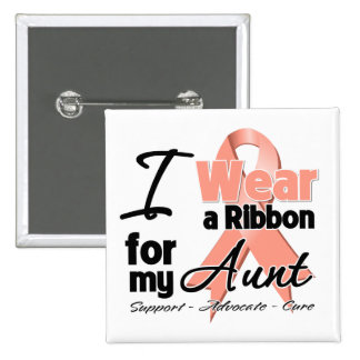 Aunt - Uterine Cancer Ribbon Pinback Buttons