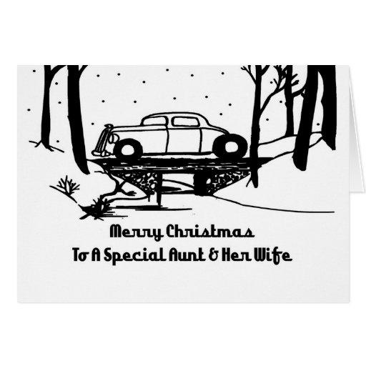 Aunt & Wife Hot Rod Christmas Card
