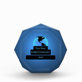Aunt World's Greatest Award Blue