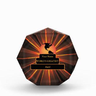 Aunt World's Greatest Custom Gold Award