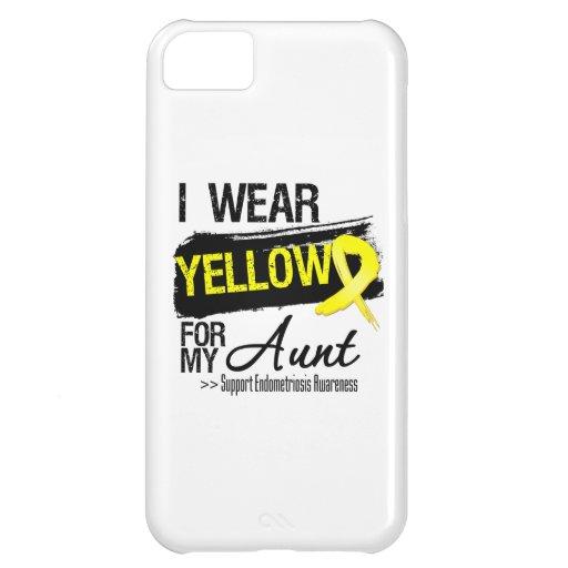 Aunt Yellow Ribbon Endometriosis iPhone 5C Cases