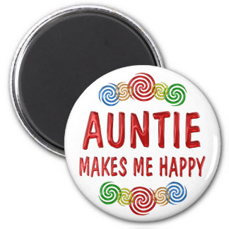 Auntie Happiness Refrigerator Magnets
