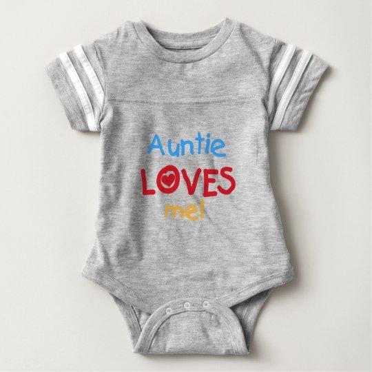 Auntie Loves Me Baby Bodysuit