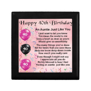 Aunts 40th Birthday Gifts Gift Ideas