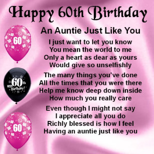 Aunt 60th Birthday Gifts Gift Ideas