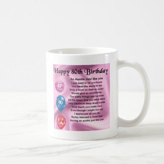 Auntie Poem - 80th Birthday Coffee Mug