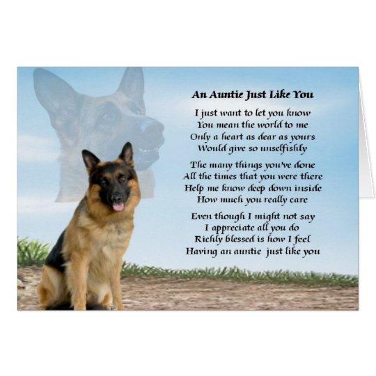 Auntie poem - German Shepherd Dog Card