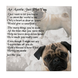 Auntie Poem - Pug Design Tile