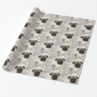 Auntie Poem - Pug Design Wrapping Paper