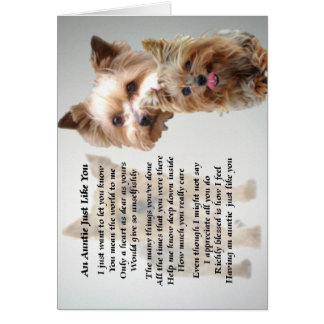 Auntie Poem - Yorkshire terrier Card