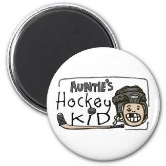 Auntie s Hockey Kid Refrigerator Magnets