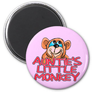 Auntie s Little Monkey Tshirts and Gifts Fridge Magnet