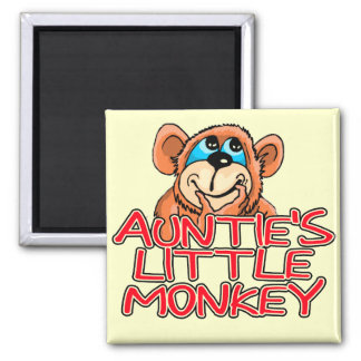 Auntie s Little Monkey Tshirts and Gifts Refrigerator Magnets