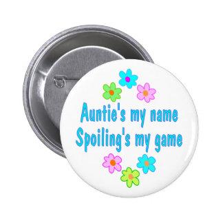 Auntie Spoils 6 Cm Round Badge