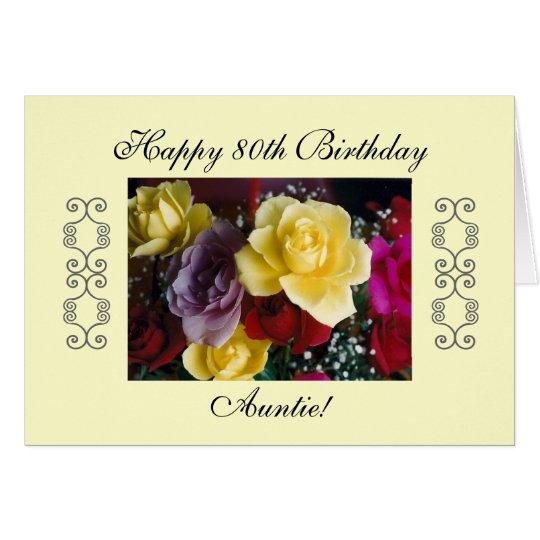 Auntie's 80th birthday card
