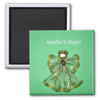 Auntie's Angel Square Magnet