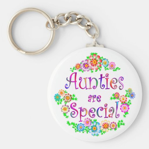 AUNTIES are Special Basic Round Button Key Ring