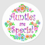 AUNTIES are Special Round Sticker