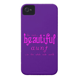 Aunties Birthdays Parties Christmas Beautiful Aunt iPhone 4 Case-Mate Cases