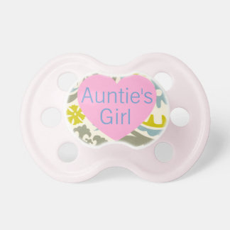 """""""Auntie's Girl"""" Floral Baby Pacifier"""