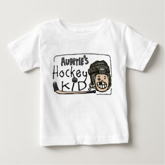 Auntie's Hockey Kid Baby T-Shirt