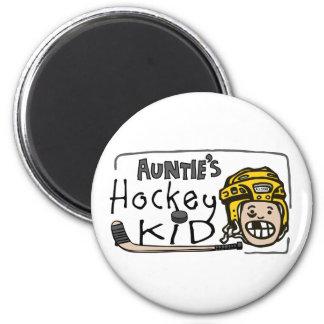 Auntie's Hockey Kid Fridge Magnet