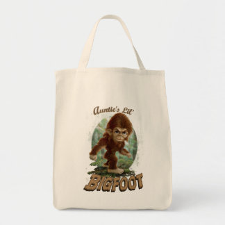 Auntie's Little Bigfoot Grocery Tote Bag