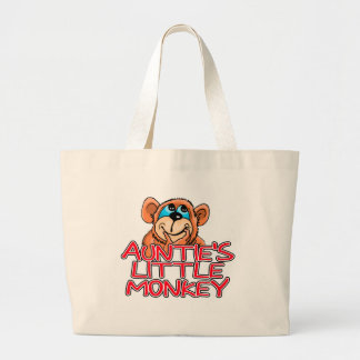 Auntie's Little Monkey Tshirts and Gifts Jumbo Tote Bag