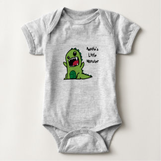 Auntie's Little Monster Baby Vest Baby Bodysuit