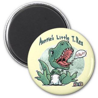 Auntie's Little T. Rex by Mudge Studios 6 Cm Round Magnet