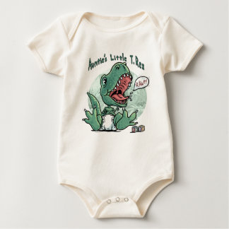 Auntie's Little T. Rex by Mudge Studios Baby Bodysuit