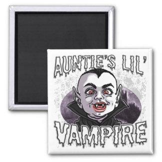 Auntie's Little Vampire Square Magnet