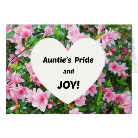 Auntie's Pride and JOY! Card