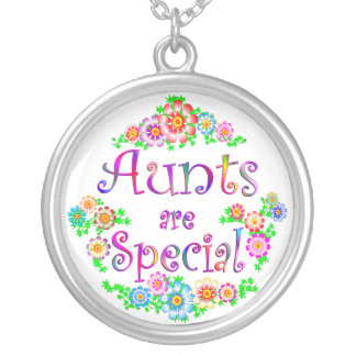 AUNTS are Special Silver Plated Necklace