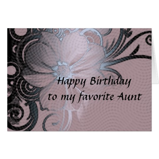 Aunt's birthday card