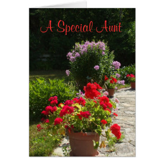 Aunt's Everyday Greeting Flowers Card
