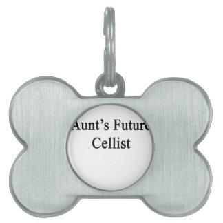 Aunt's Future Cellist Pet Name Tag