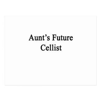 Aunt's Future Cellist Postcard