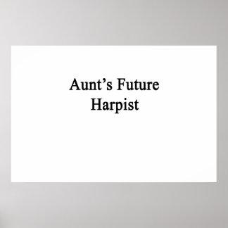 Aunt's Future Harpist Poster