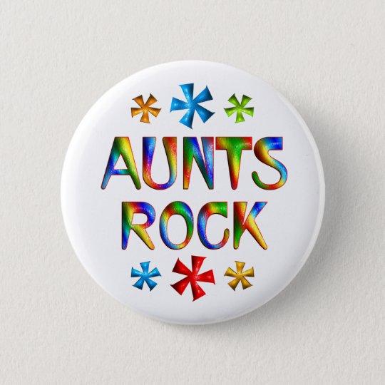AUNTS ROCK 6 CM ROUND BADGE
