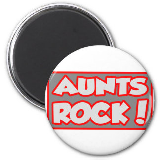 Aunts Rock! 6 Cm Round Magnet