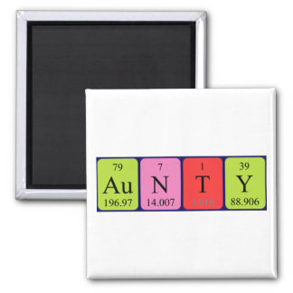 Aunty periodic table name magnet