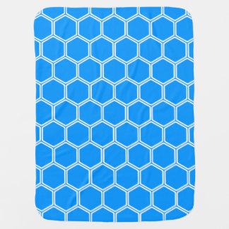 Auqa Blue Hexagon1 Swaddle Blankets