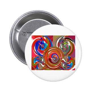 Aura Cleaning Circles - Reiki Meditation Mandala 7 6 Cm Round Badge