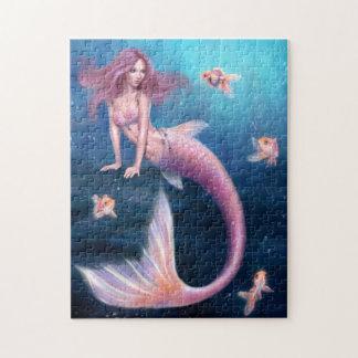 Aurelia Goldfish Mermaid Art Puzzle